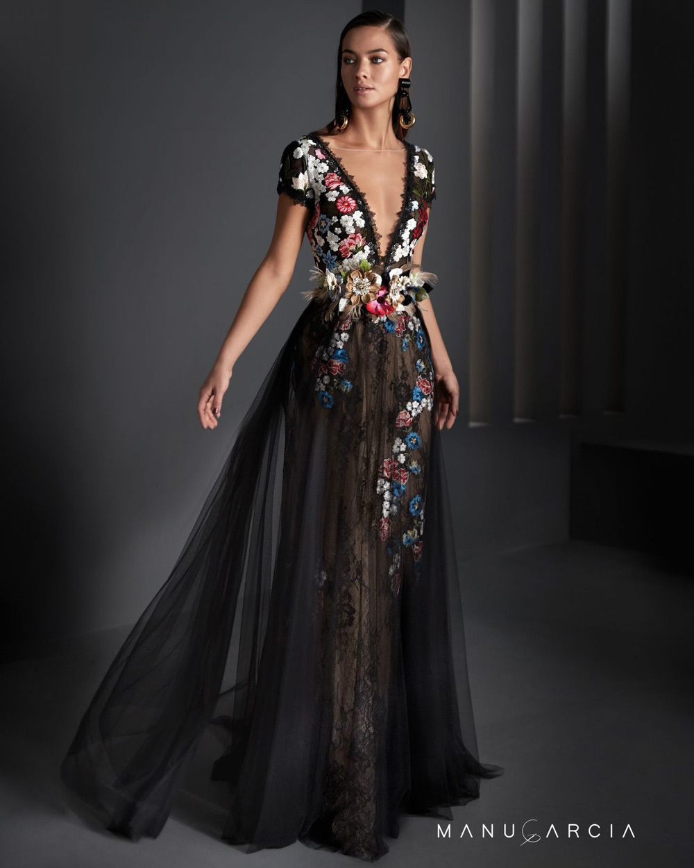 vestido de fiesta manu garcia MG3112
