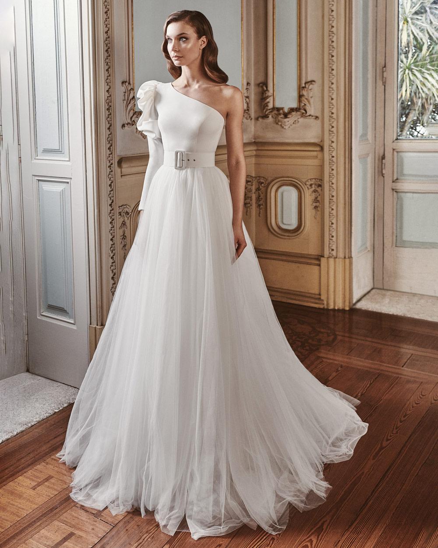 vestido de novia silvia fernandez LAURA tul