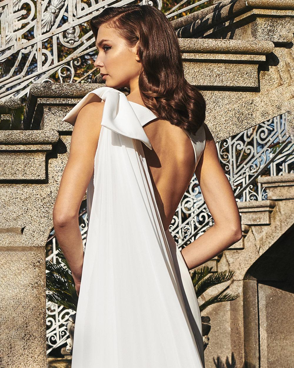 vestido de novia silvia fernandez LINA escote-espalda