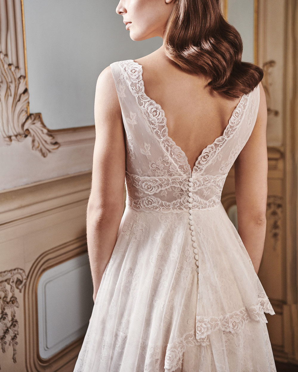 vestido de novia silvia fernandez LINCE espalda encaje