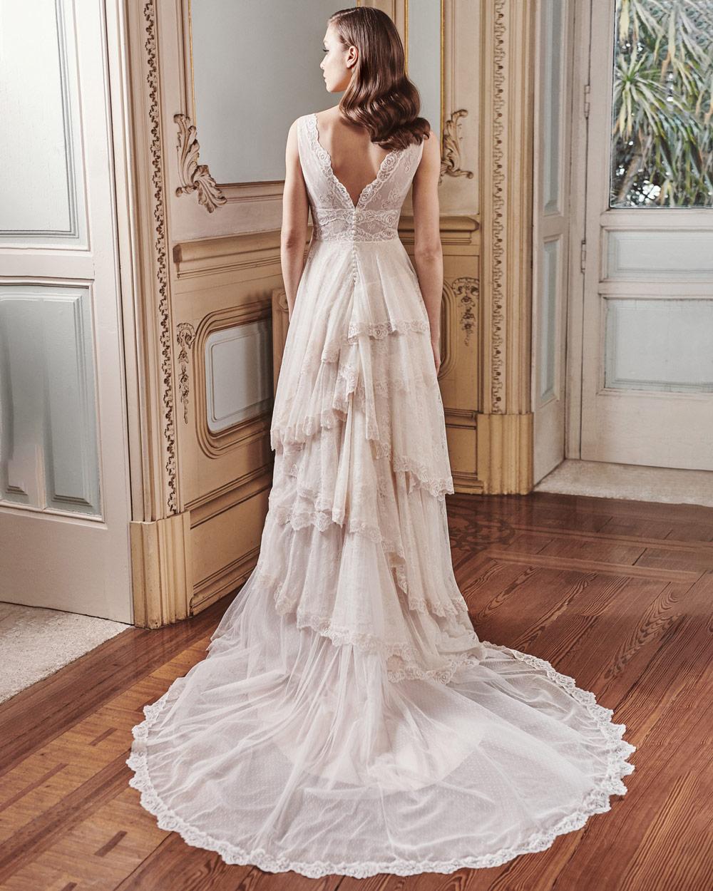 vestido de novia silvia fernandez LINCE volantes