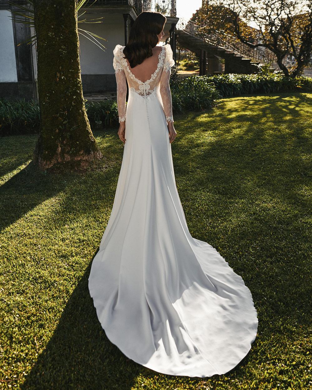 vestido de novia silvia fernandez LUA espalda