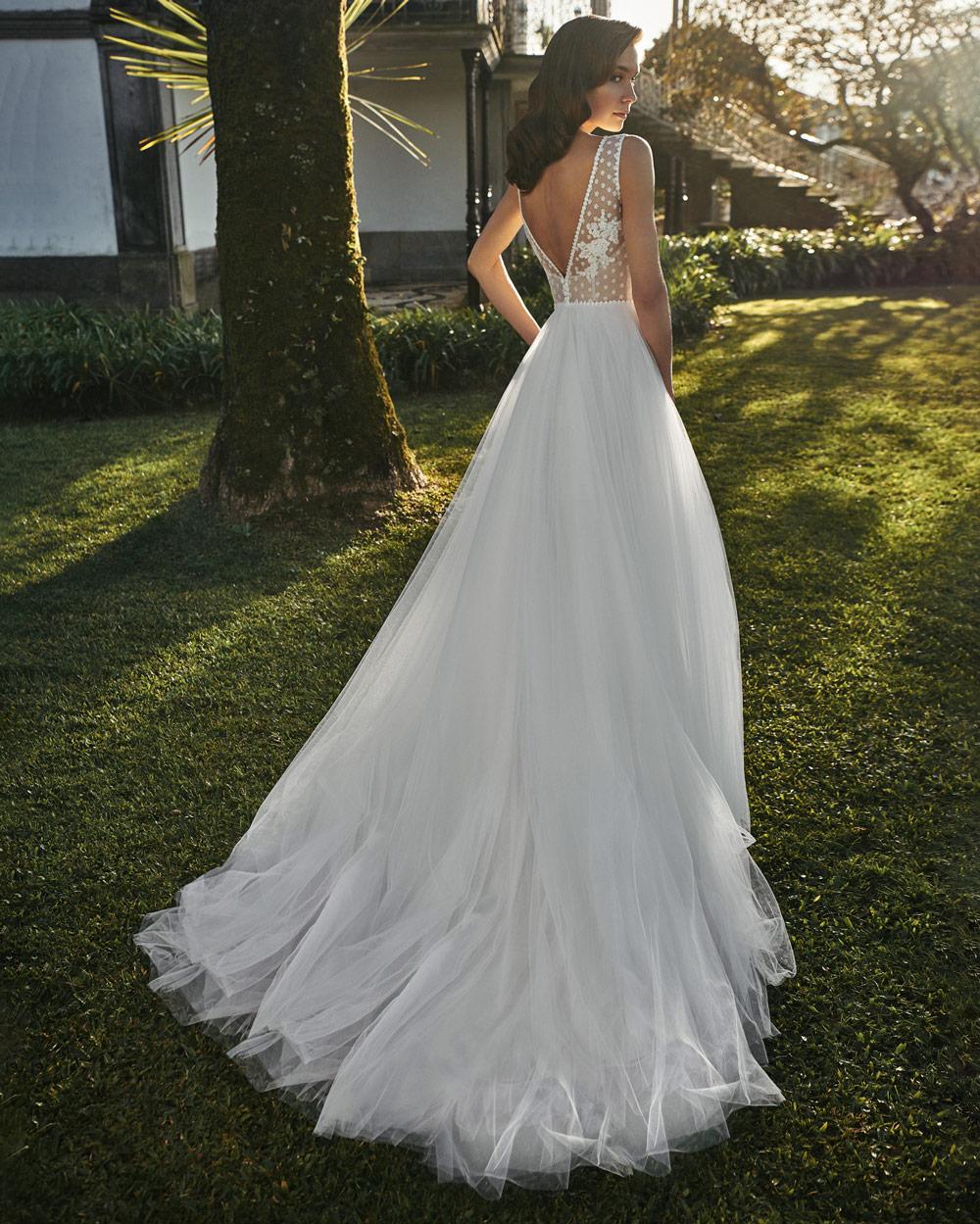 vestido de novia silvia fernandez LUCERNA gasa