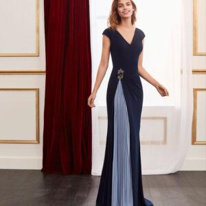 vestido de fiesta 2020 4J139 MARFIL BARCELONA 1