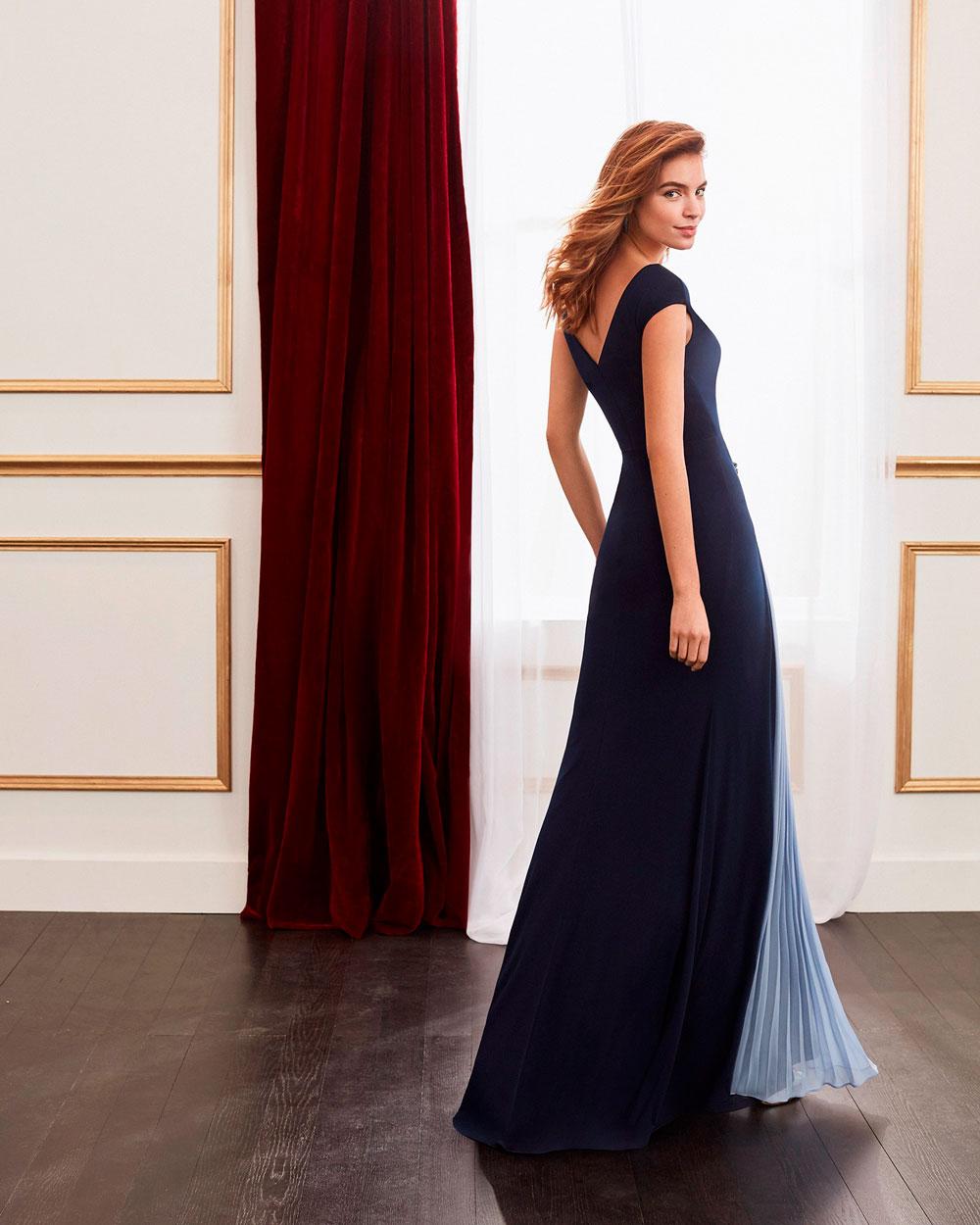 vestido de fiesta 2020 4J139 MARFIL BARCELONA 2