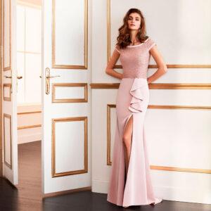 vestido de fiesta 2020 4J159 MARFIL BARCELONA 1
