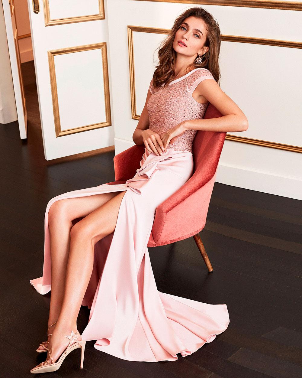vestido de fiesta 2020 4J159 MARFIL BARCELONA 3
