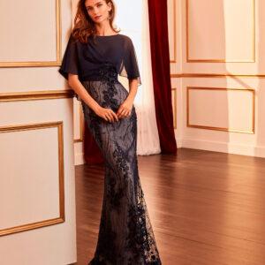 vestido de fiesta 2020 4J160 MARFIL BARCELONA 1