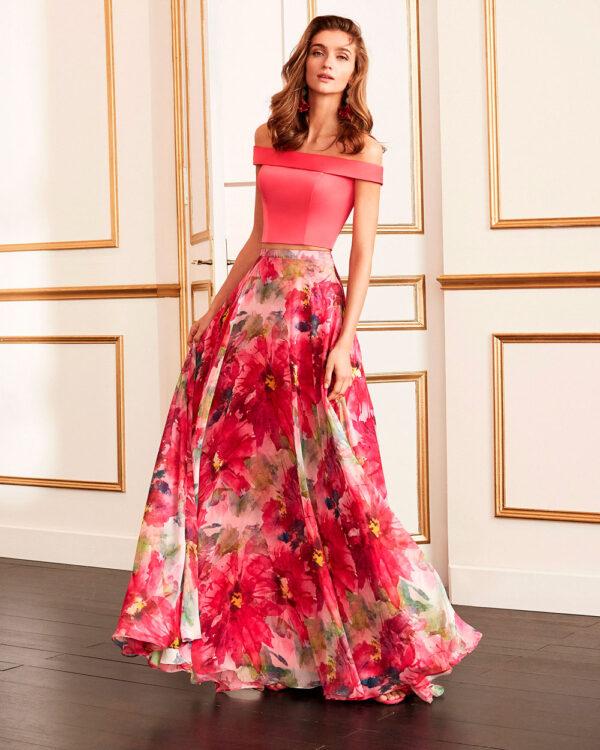 vestido de fiesta 2020 4J237 MARFIL BARCELONA 1
