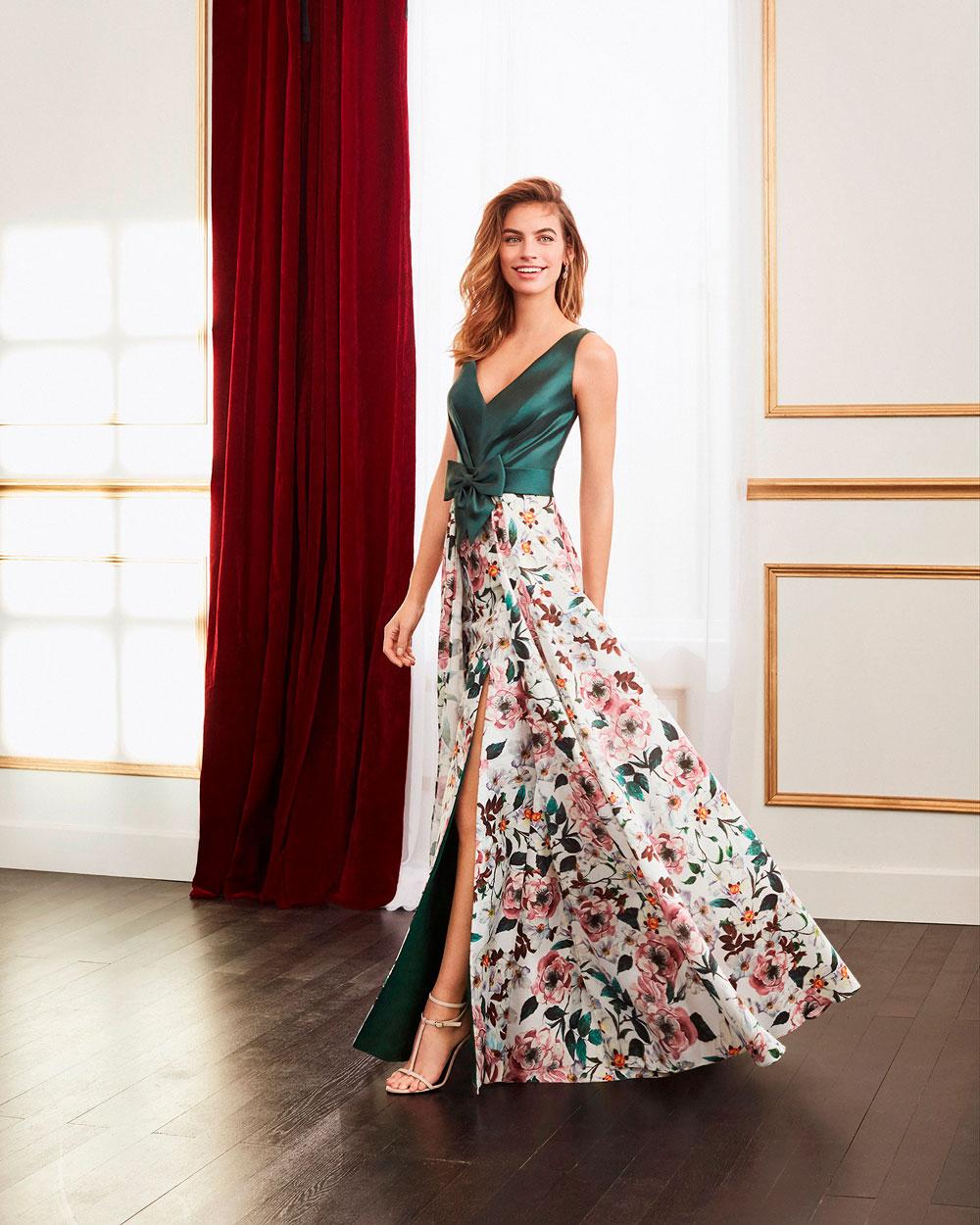 vestido de fiesta 2020 4J2D3 MARFIL BARCELONA 1
