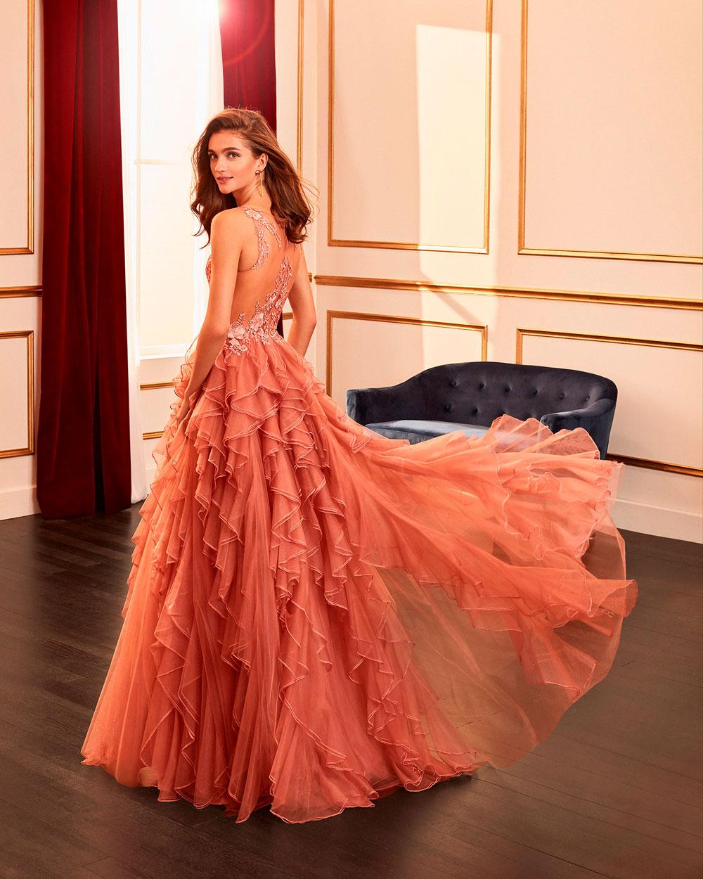 vestido de fiesta 2020 4J2F3 MARFIL BARCELONA 1