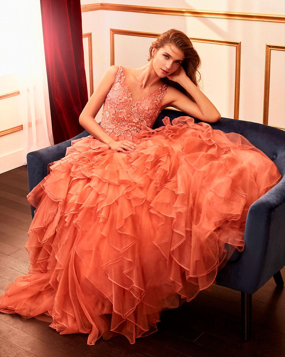 vestido de fiesta 2020 4J2F3 MARFIL BARCELONA 3