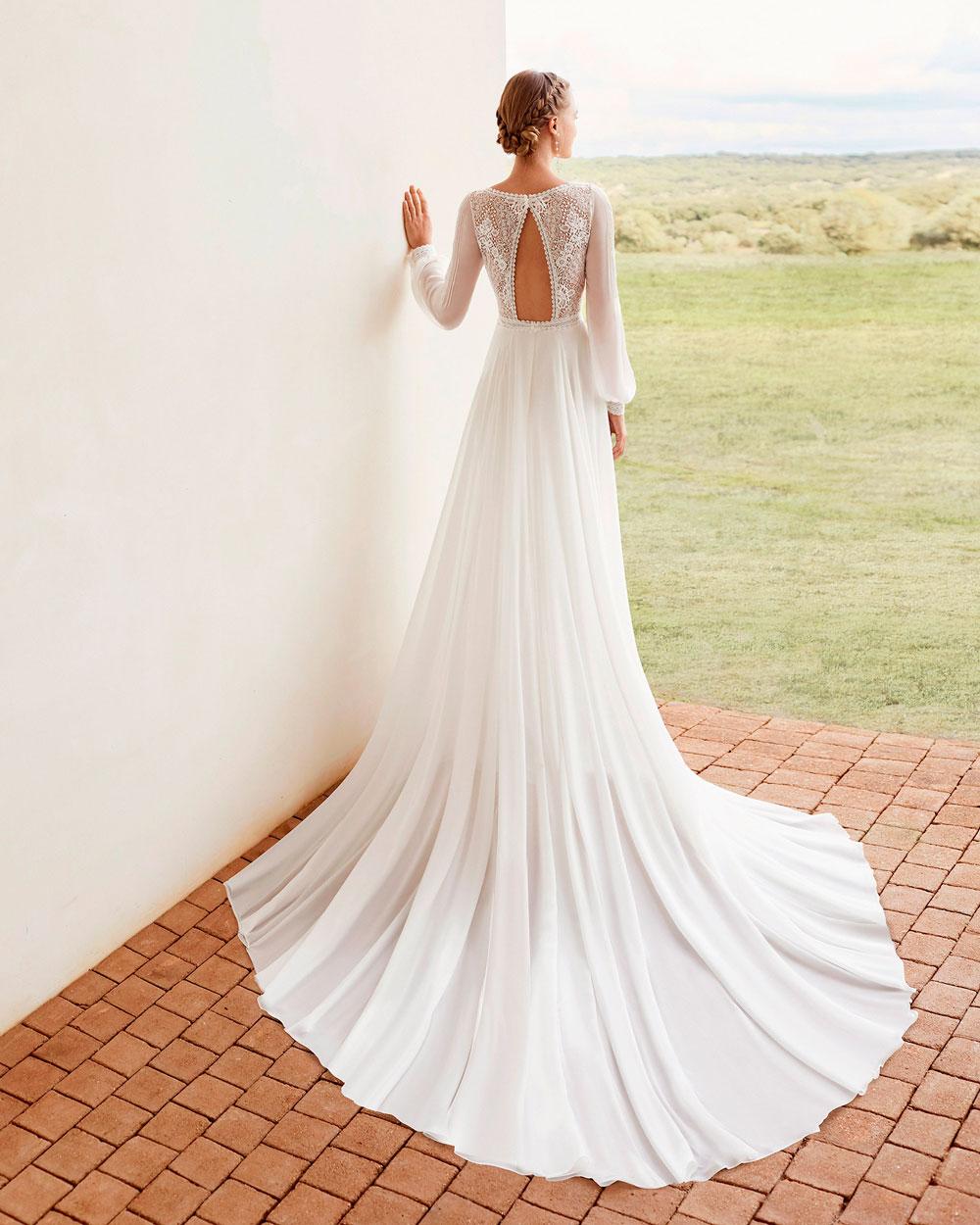 vestido de novia 2021 AMAPOLA ROSA CLARA BOHEME 2