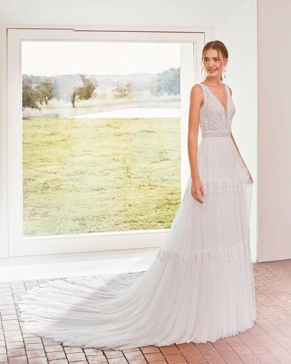 vestido de novia 2021 AREZZO ROSA CLARA BOHEME 2