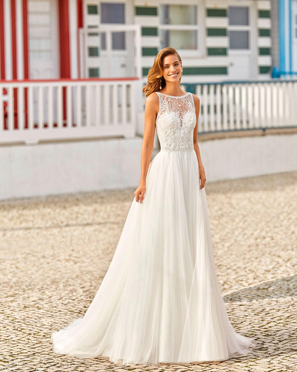 vestido de novia 2021 HANIEL ROSA CLARA SOFT 2