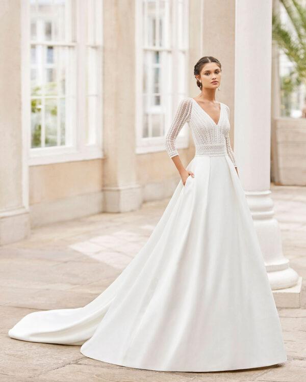 vestido de novia 2021 TOSCANA ROSA CLARA 1