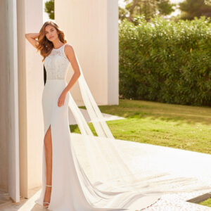 Vestido novia Galatea Rosa Clara