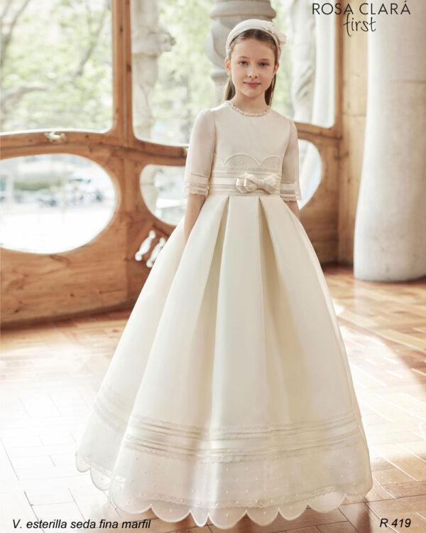 Vestido comunión Rosa Clará 419